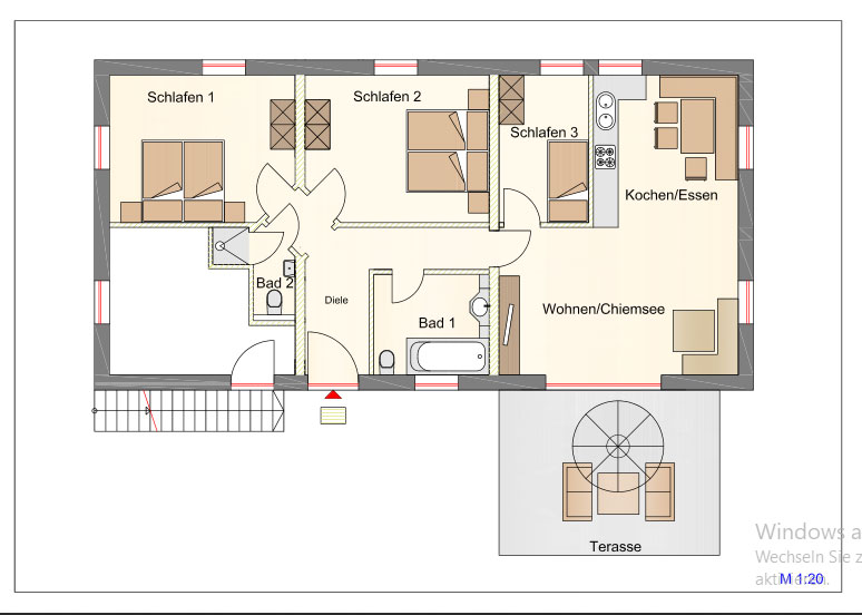 Layout 5***** Apartment Chiemsee at the Wimmerhof