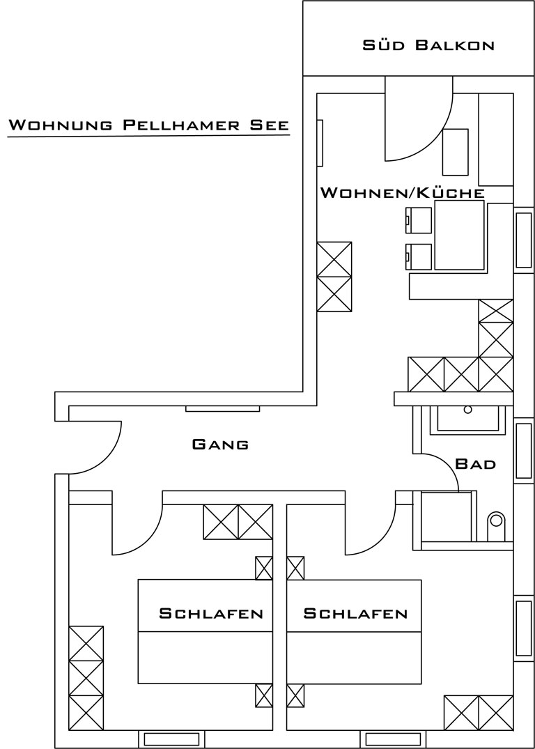 Layout Apartment Pelhamersee At The Wimmerhof